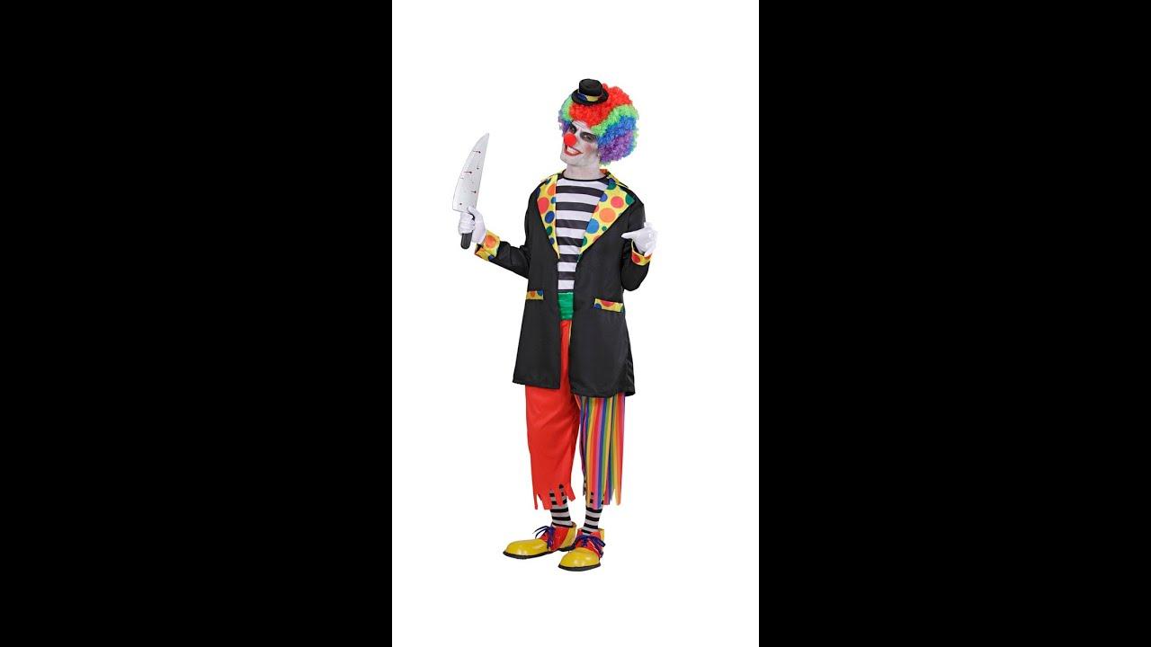 9793 Quot Evil Clown Quot Jacket Shirt Pants Socks Mini Hat