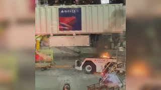 Vehicle fire near MSY terminal