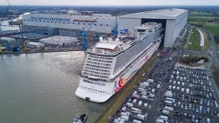 Float Out/Ausdocken Norwegian Joy 04.03.2017 | Meyer Werft | Drone Shots  | Look at the Racetrack