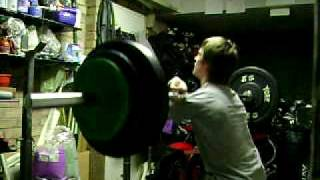 "Mike ""Olympic style"" Front Squat 110 Kg x 2 Reps 100 % raw and Deep at 63 kg Bodyweight @ 15 yrs old"
