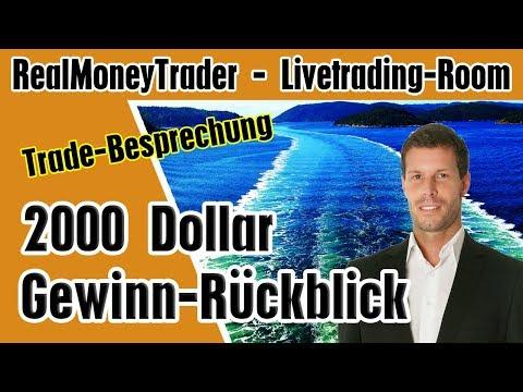 2000 Dollar Gewinn im Livetrading Room - Trade-Besprechung
