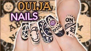 DIY OUIJA NAIL ART *not clickbait* *actual nail art* *emergency* by : Simply Nailogical
