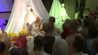 2014.10.18. Vyasa Puja -4- Pushpanjali HG Sankarshan Das Adhikari, Kaunas, Lithuania