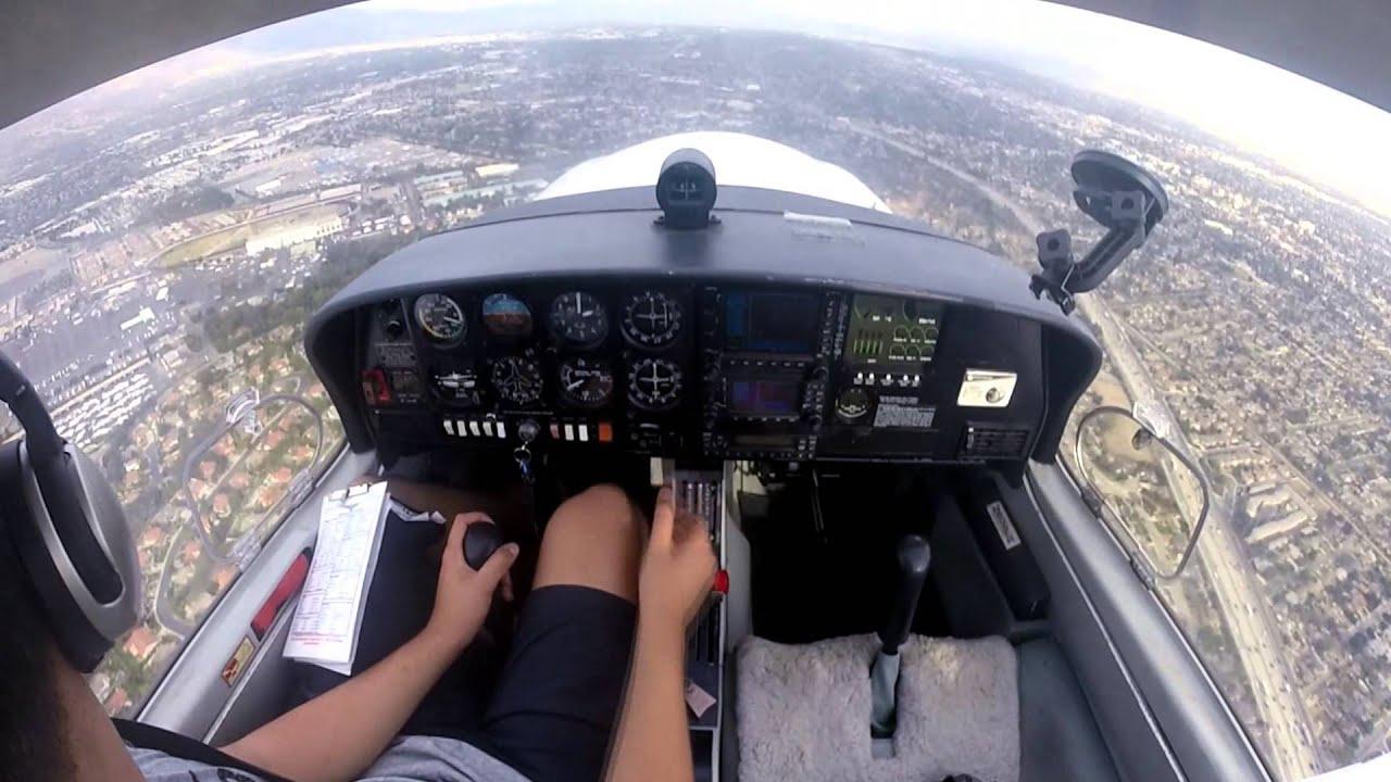 Student pilot solo da40 brackett airfield kpoc youtube for Brackett watches