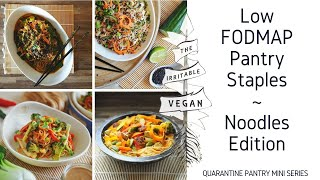 Noodles Edition / Low FODMAP Pantry Staples  / Quarantine Special / Cook #withme