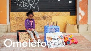 A homeless 7-year-old who lives on the beach shows us exactly what courage looks like.