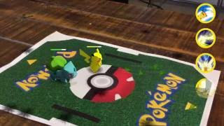 Multiplayer Augmented Reality Pokemon Battles!