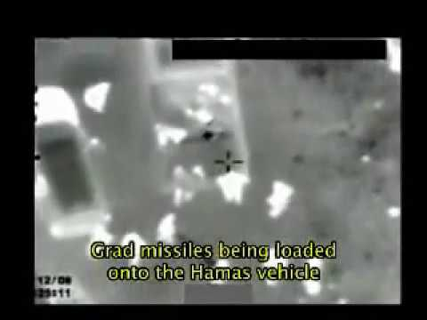 Israeli Air Force Strikes Rockets in Transit