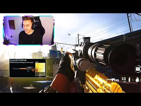 MY FIRST GOLD SNIPER!! (MW Road To DIAMOND - Episode 4)