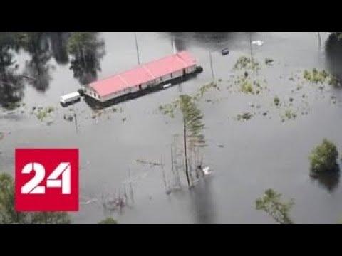 """Ущерб от урагана """"Флоренс"""" в США составил около 50 млрд долларов - Россия 24"""