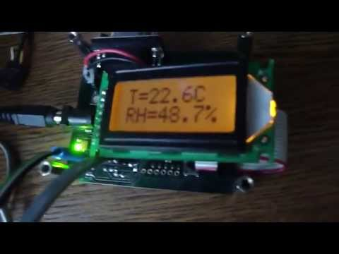 Weather station with SHT75 and DS18B20