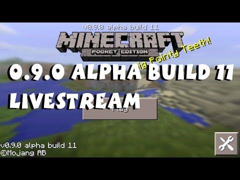 Minecraft Pocket Edition 0.9.0 Alpha Build 11 Livestream (Day 1)