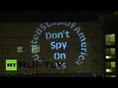 Germany: Writing is on the wall- Anonymous protests against NSA