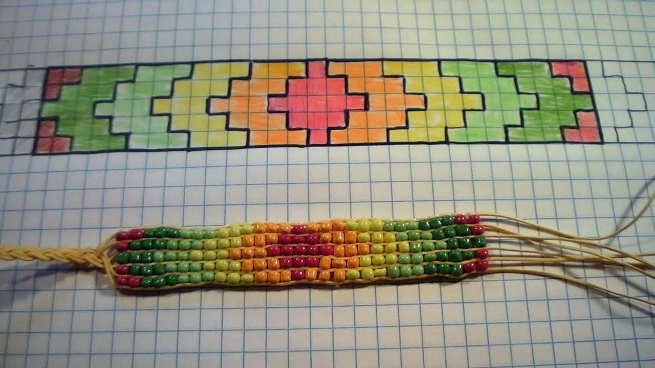 Adesivo Formatura Personalizado ~ Braceletes e pulseiras de miçangas no tear YouTube