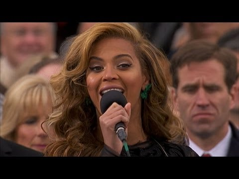 Beyonce National Anthem At Inaugural Ceremony: Inauguration 2013 video