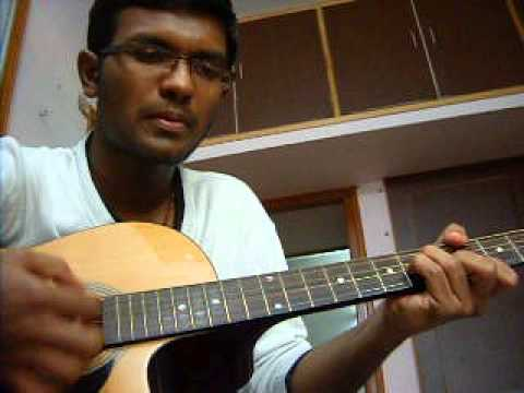 minchagi neenu baralu song guitar cover by bahubali galipata...