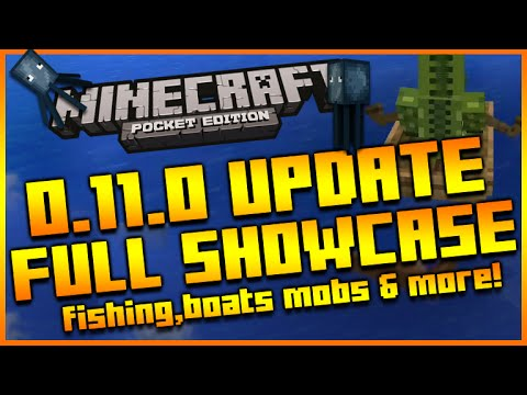 ★MINECRAFT POCKET EDITION 0.11.0 UPDATE - FULL GAMEPLAY SHOWCASE BOATS, FISHING & MORE★