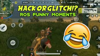 ROS Mobile Hack Or Glitch?Funny Moments - Rules Of Survival (2018)