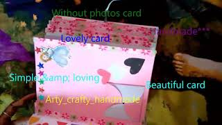 Handmade scrapbook card!!simple and creative! Baby card