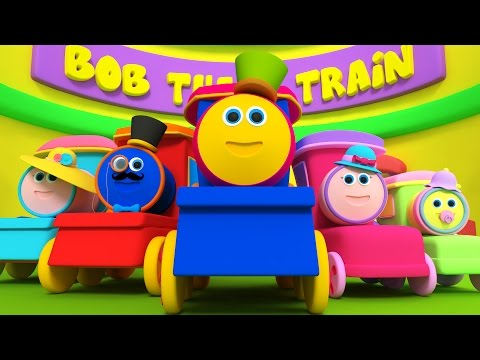 Bob tren dedo familia | Rimas para niños | Nursery Rhymes | Songs For Kids | Bob Train Finger Family