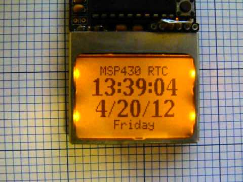 MSP 430 software real time clock (RTC)