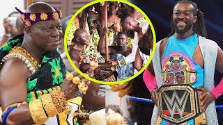 WWE Champion Kofi Kingston visits Otumfour Osei Tutu @ Manhyia & Delivers Title