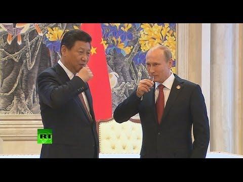 Владимир Путин и Си Цзиньпин подняли рюмки за исторический газовый контракт