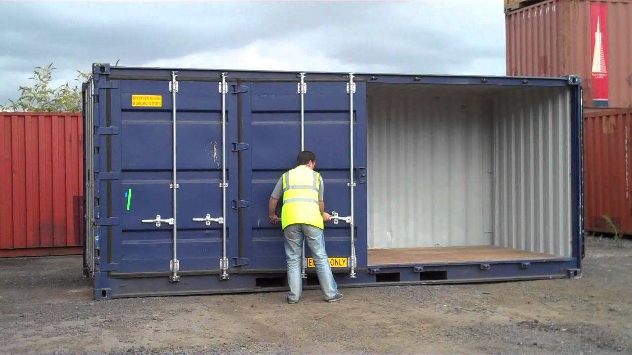 Shipping container with opening side youtube - Shipping container end welding ...