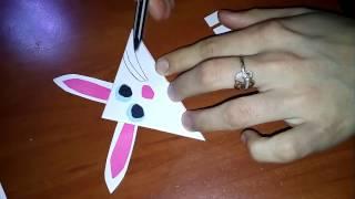 Как сделать закладку из бумаги заяц