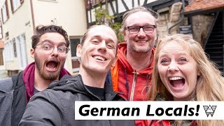She Tries Speaking German, Trying German food 🥨 (Day Trips from Stuttgart)