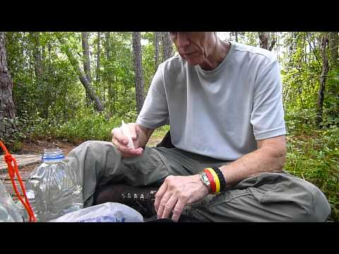 Katadyn Hiker filter and Bleach - Collecting and disinfecting water
