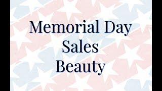 Memorial Weekend 2018 Sales in Beauty