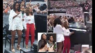 Michelle Obama dances at Beyonce and Jay-Z's Paris concert - 247 news