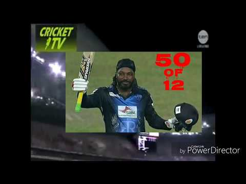 Chirs Gayle 50 of 12 Balls Fastest Fifty in world Full Hd Video 2018