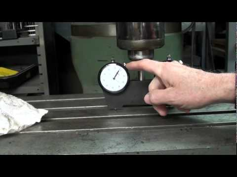 MACHINE SHOP TIPS #15 Bridgeport Mill TRAMMING with SPINDLE SQUARE tubalcain
