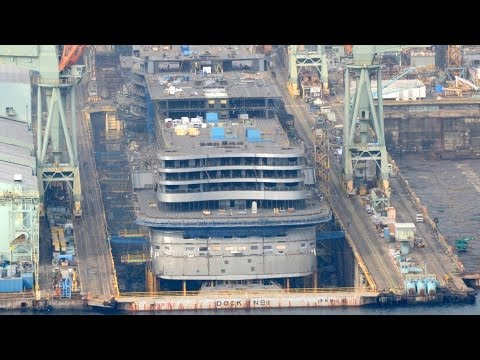AIDAprima under construction at Nagasaki - Feb. 2014