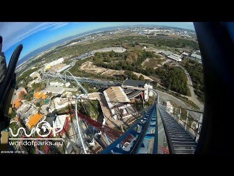 Shambhala On Ride & Off Ride - Port Aventura - Europe's tallest roller coaster - B&M Achterbahn