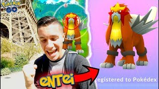 I GOT ENTEI IN POKÉMON GO EARLY! NEW LEGENDARY IN THE DEX!