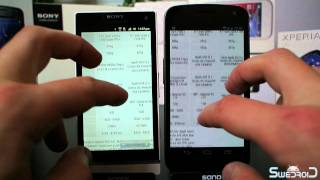 Sony Xperia S vs Galaxy Nexus - browser speed and rendering performance