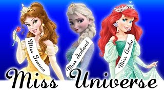 Disney Princesses Crowned As Miss Universe! | Ariel, Elsa, Belle, Cinderella & More!