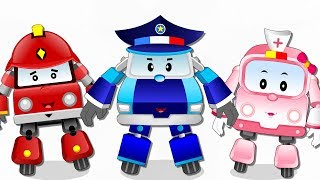 Fire Truck with Police Car and Ambulance | Super Cars Cartoon for kids