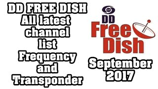 DD Free Dish Latest Channel List 2017 September