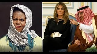MICHELLE IS PISSED! WHEN SHE SEES WHAT THE SAUDI KING DID FOR MELANIA!