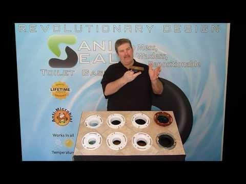 Sani Seal Toilet Gasket :: Introduction - No Mess - Waxless - Repositionable