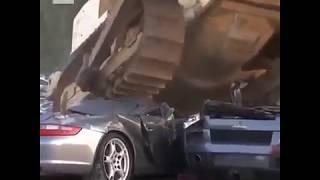 Destroyed supercar U.S.A #lamborghini#porsche#harley