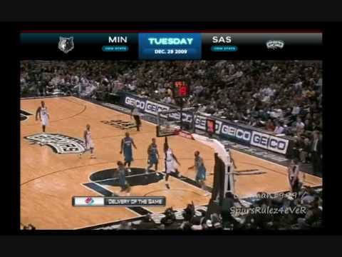 Manu Ginobili Amazing Night vs. Timberwolves 12/29/2009 Video