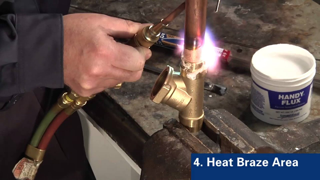 Brazing Copper To Brass With Sil Fos 174 Youtube