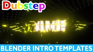 Top 10 Blender Dubstep Intro Templates 2017 + Free Download Gaming 2D Fast Render