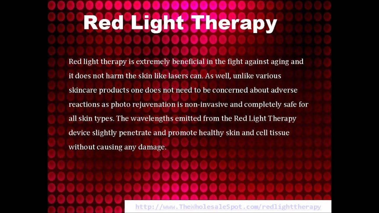 Red Light Therapy Anti Aging Treatment Youtube