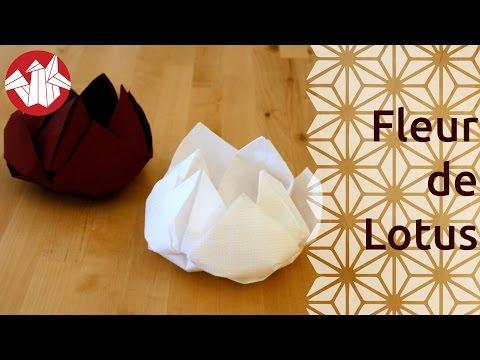 Fleur de lotus videolike - Origami fleur de lotus ...